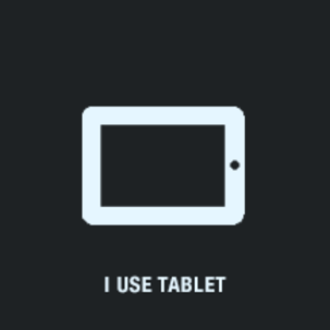 view on tablet, pad